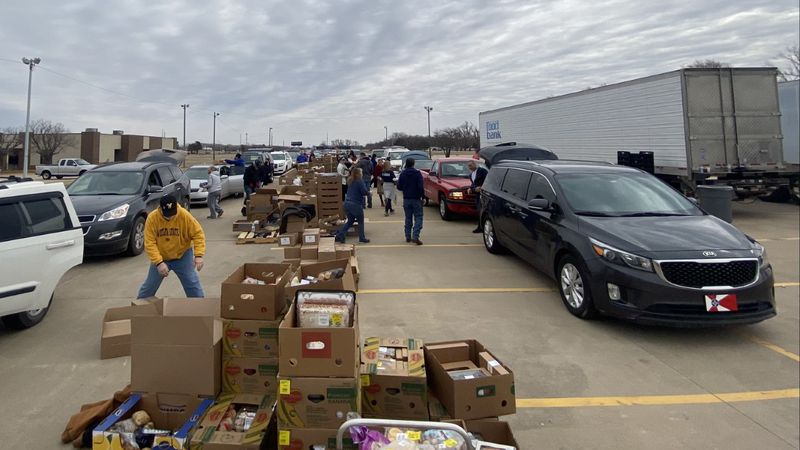 Convoy of Hope Wichita monthly food distribution at Bethel Life Center.