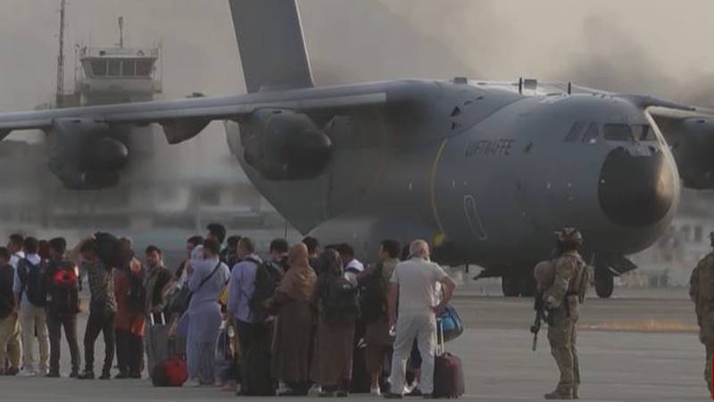 Evacuations from Afghanistan continued Monday, Aug. 30, as the final U.S. troops withdrew from...