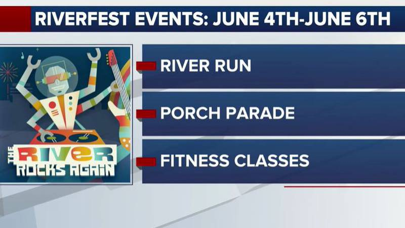 Schedule for opening weekend of Riverfest