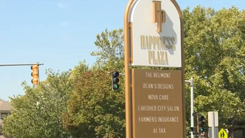 Happiness Plaza in Wichita's College Hill neighborhood