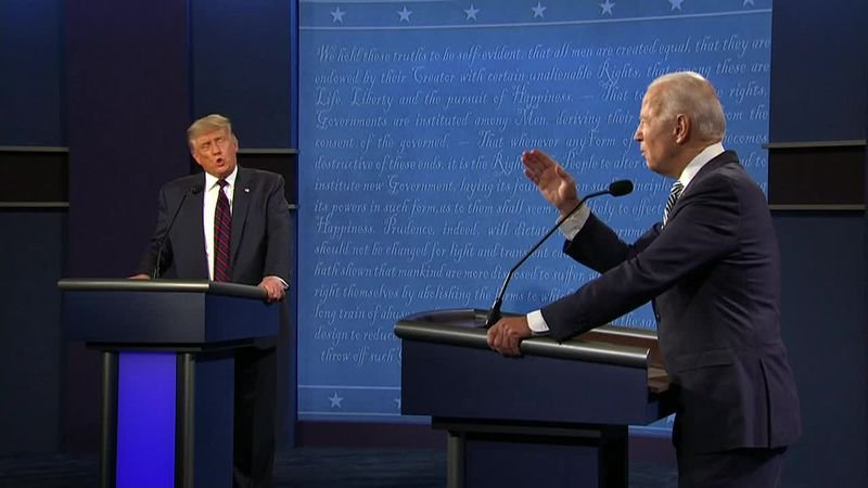 Major moments during the first presidential debate between President Trump and Democratic...
