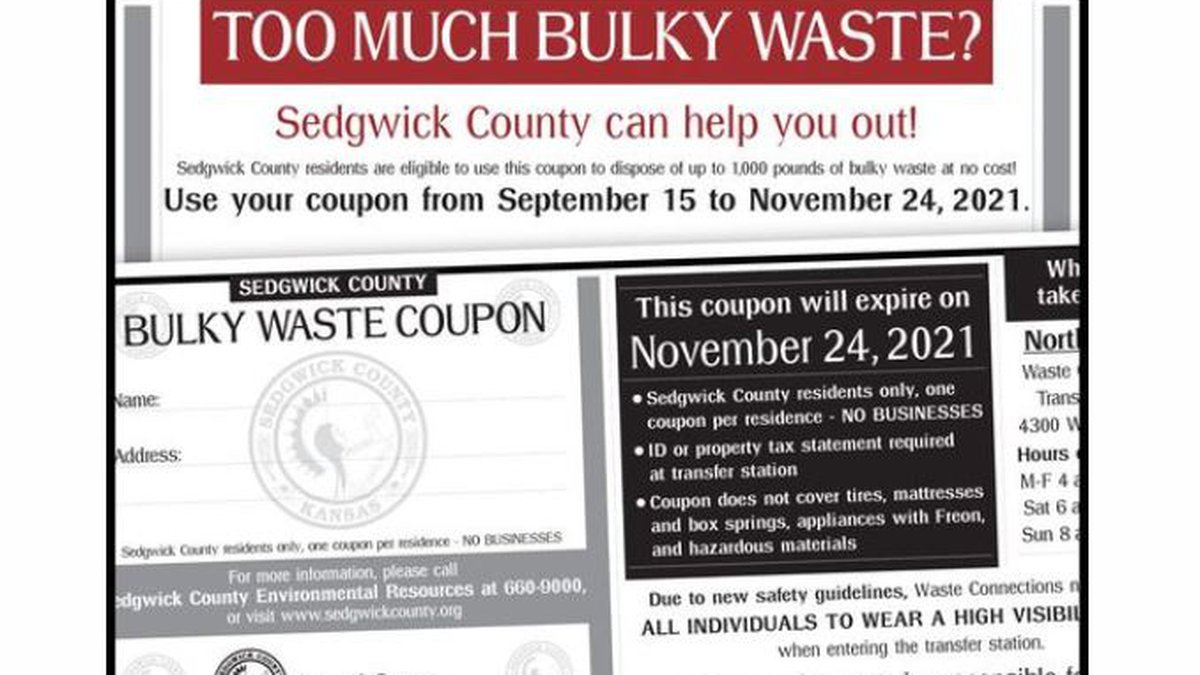 Sedgwick County bulky waste coupon