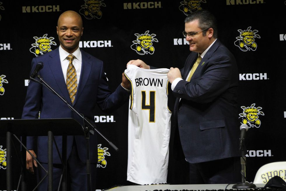 Isaac Brown is formally introduced as the 26th head men's basketball coach for Wichita State...