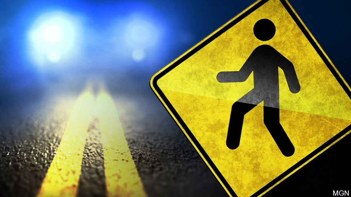 Sioux Falls police said a pedestrian was hit by a car crossing West 41st Street Wednesday morning.