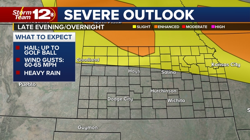 Good chances for storms statewide; severe threat to the north.