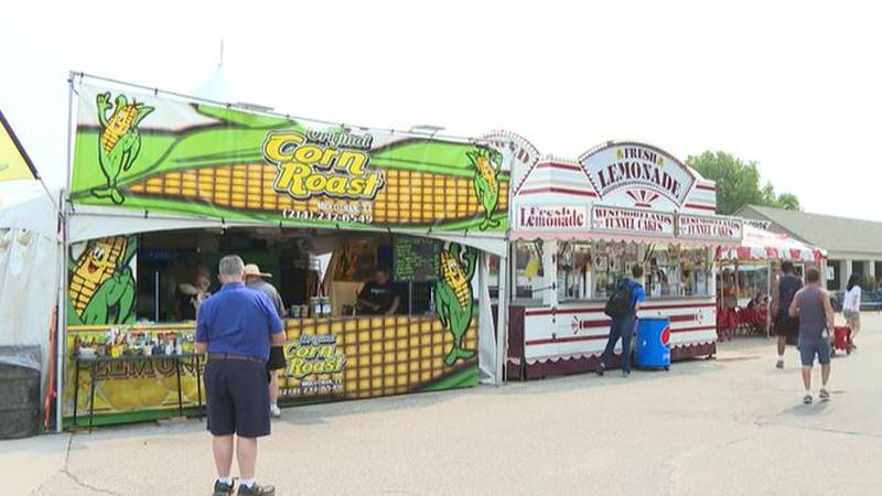 Rusty Allen, the owner of the Original Corn Roast, said he's glad the fair is back because...