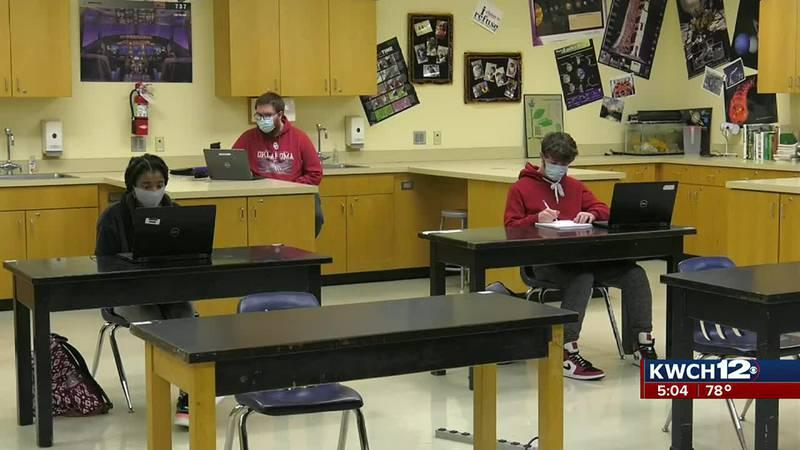 Wichita Public Schools students in masks