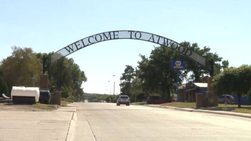 Entering Atwood, Kansas in Rawlins County