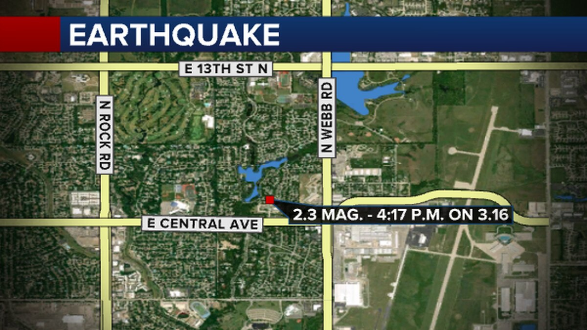 A magnitude 2.3 earthquake struck Wichita near Central and Webb on Tuesday.