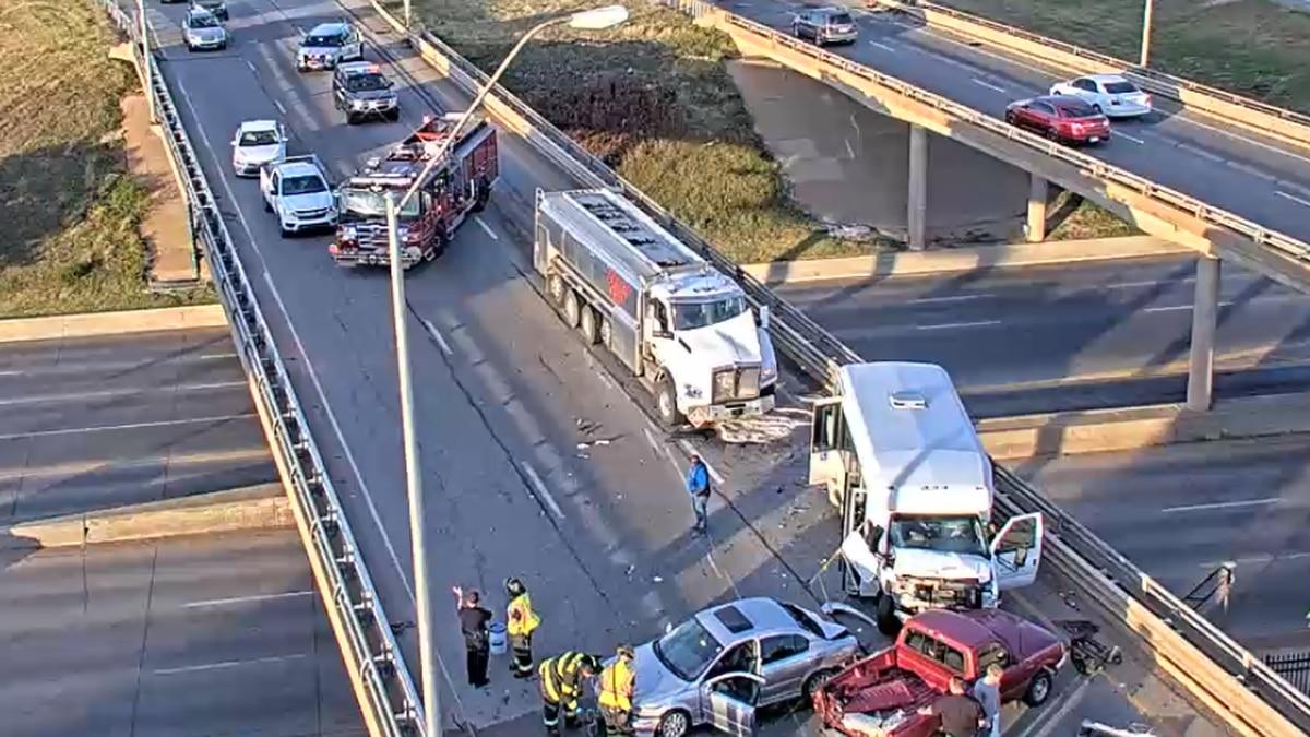Crash near I-235 and Zoo Blvd.