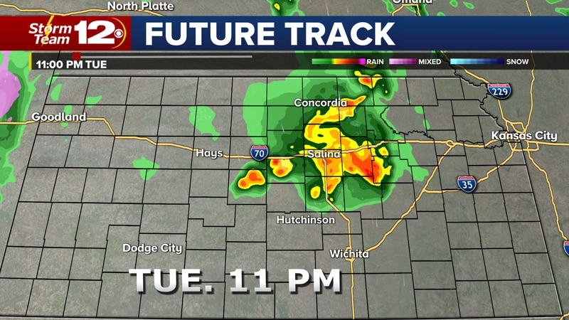 There will be a chance for strong to severe storms Tuesday evening and into the overnight...