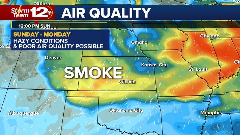 Less humidity, sunny-hazy Sunday