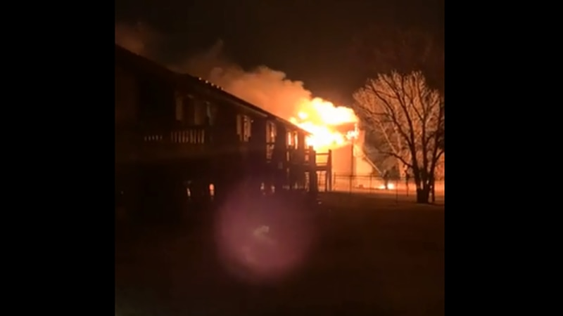 Wichita Fire Department battles duplex fire in Bel Aire