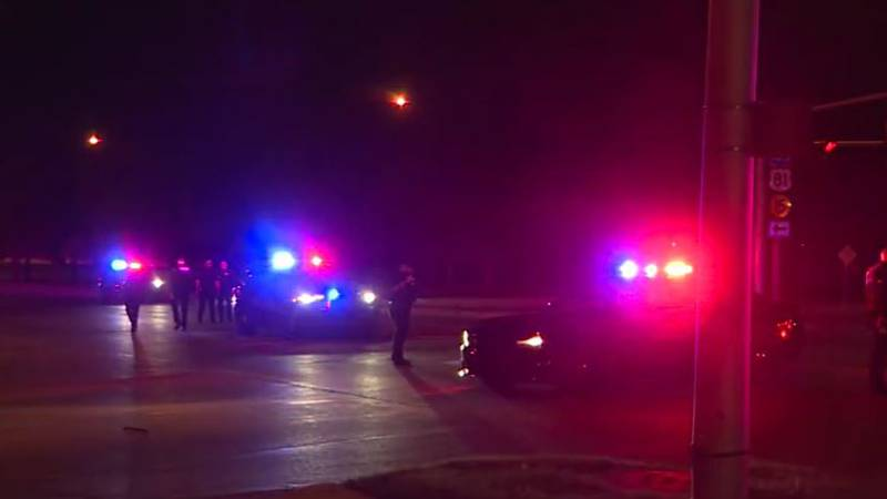 Wichita police said a woman suffered minor injuries in a shooting at 13th and I-135 Friday night.