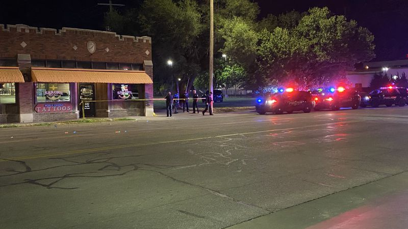 Shooting scene near Broadway and Murdock in downtown Wichita