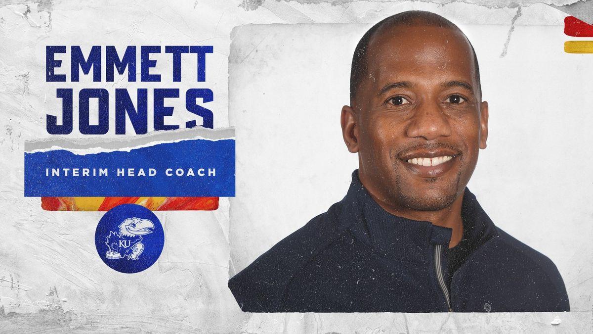 Kansas Athletics announced today that Emmett Jones has been named Kansas Football interim head...