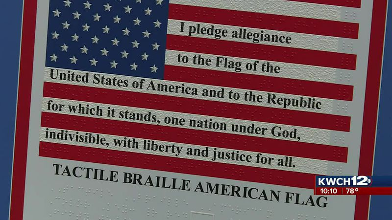 The American Braille Flag Project looks to see braille flags installed at all blind rehab...