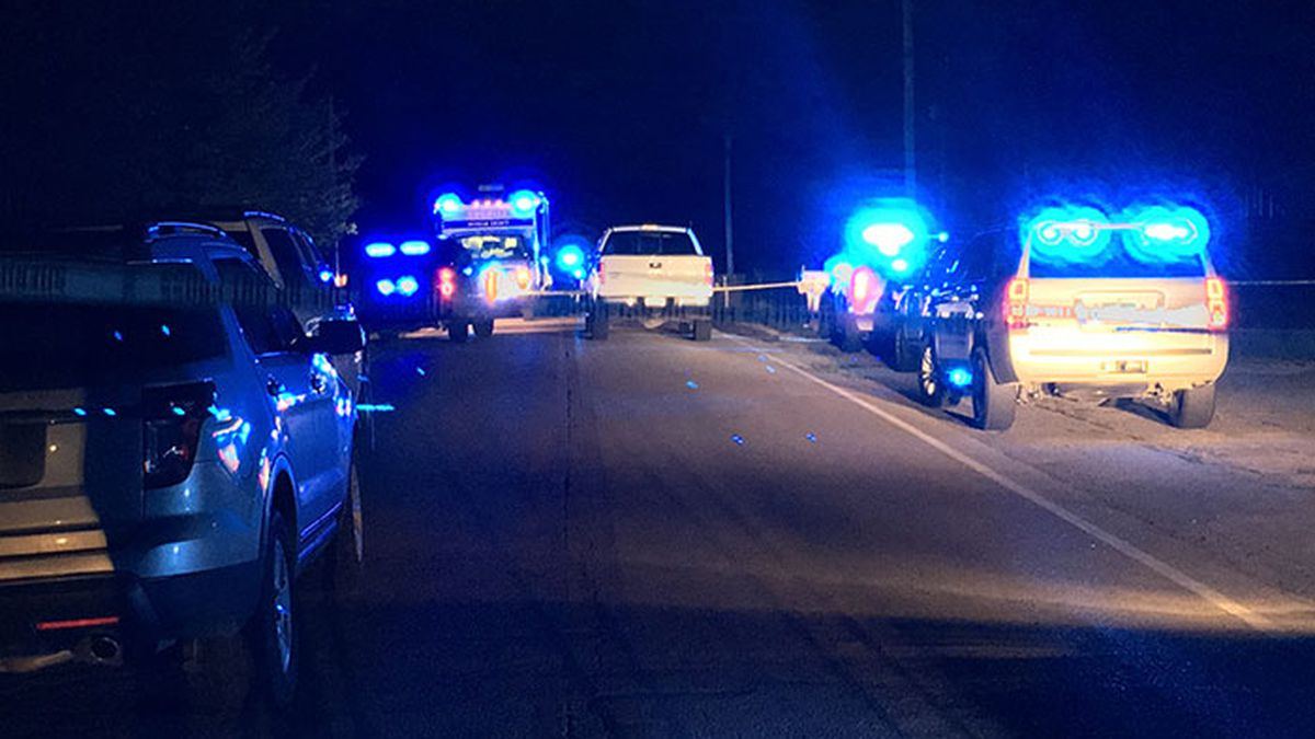 Morgan County investigators on the scene of a homicide on Talacuh Road in Valhermoso Springs, Alabama. (Source: WAFF)