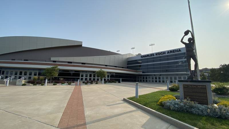 Charles Koch Arena will be an early voting site.