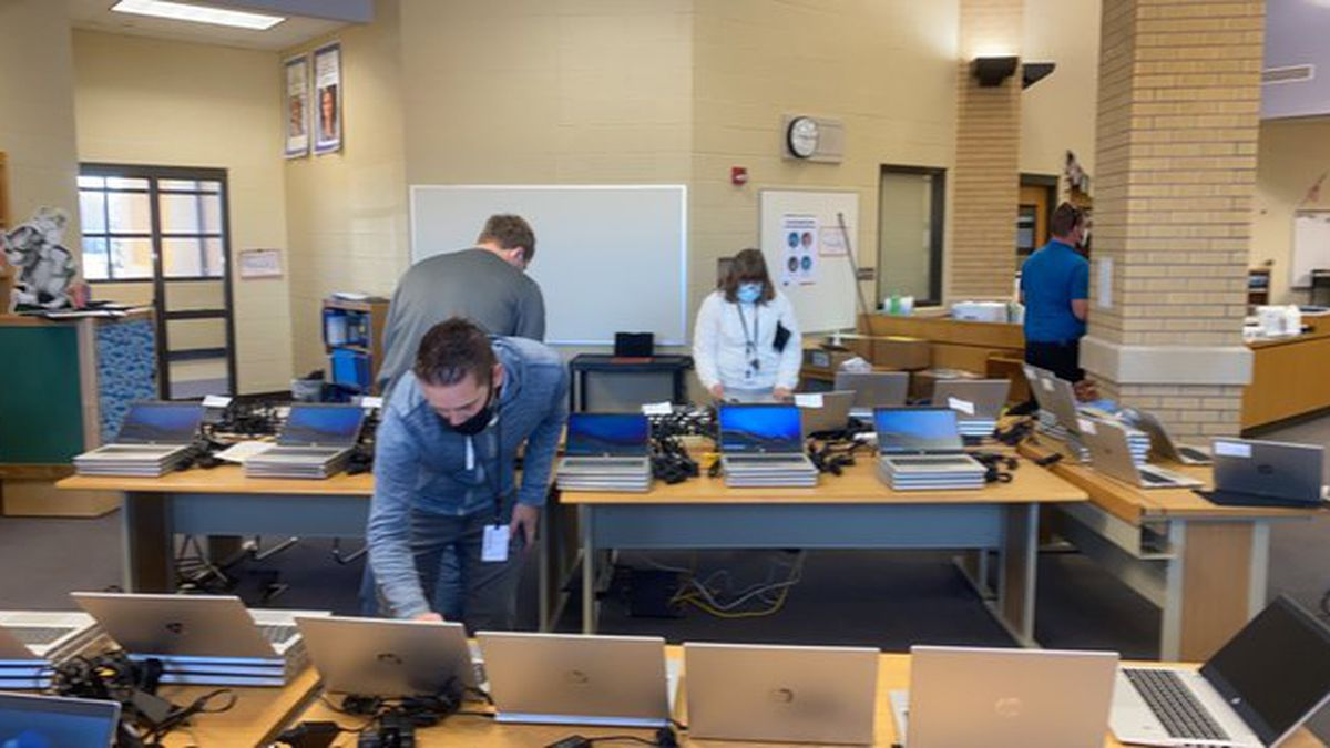 The school district is working on deploying more than 11,000 devices leading into the...