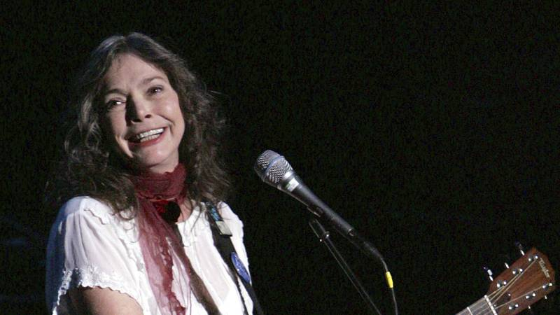 FILE - Nanci Griffith performs during the ACLU Freedom Concert Oct. 4, 2004, in New York....