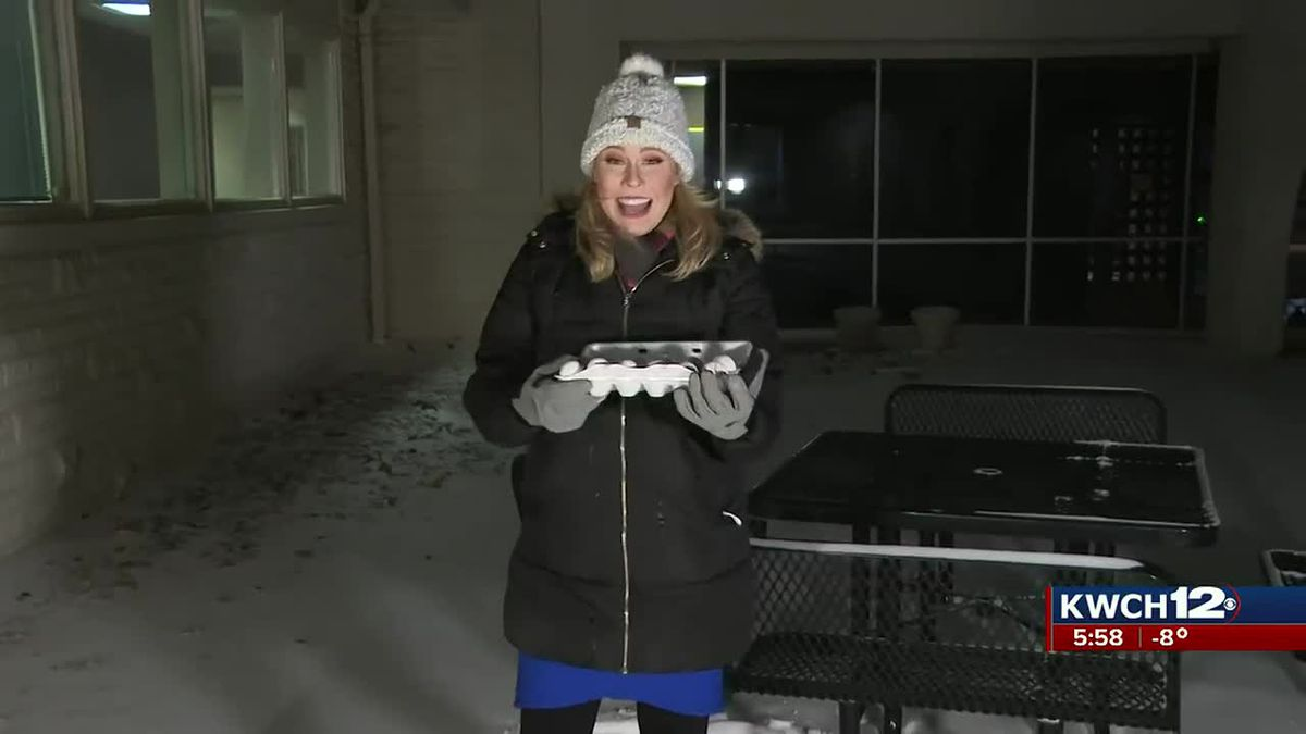 Just how cold is it? Natalie shows us with eggs