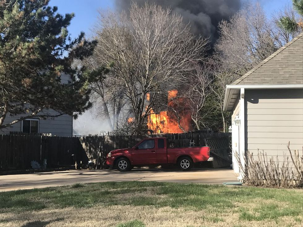 Fire destroyed a duplex in west Wichita on Monday. The home is located in the 2600 block of...