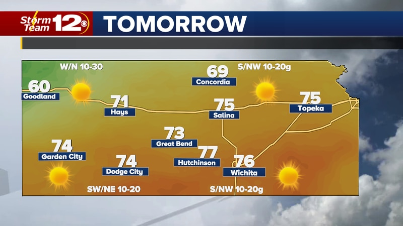Sunshine will stick around on Sunday and it will get much warmer.