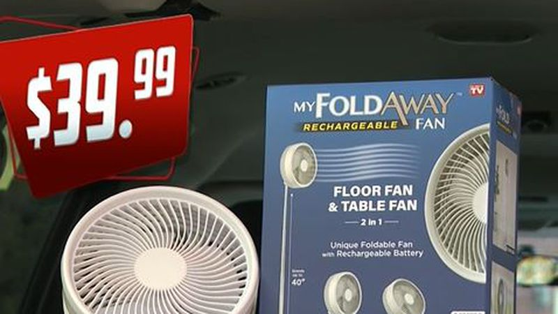 the My FoldAway Rechargeable Fan is tested for Does It Work Wednesday