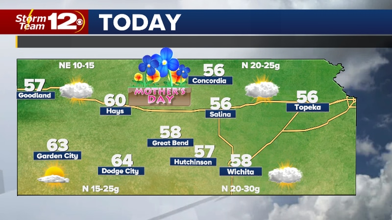 Chilly, breezy Mother's Day