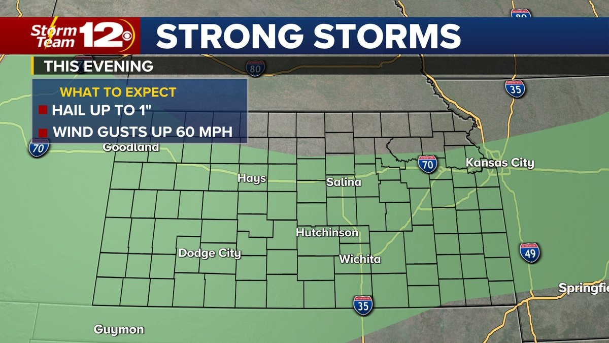 Meteorologist Jake Dunne says a cold front will move across Kansas today.