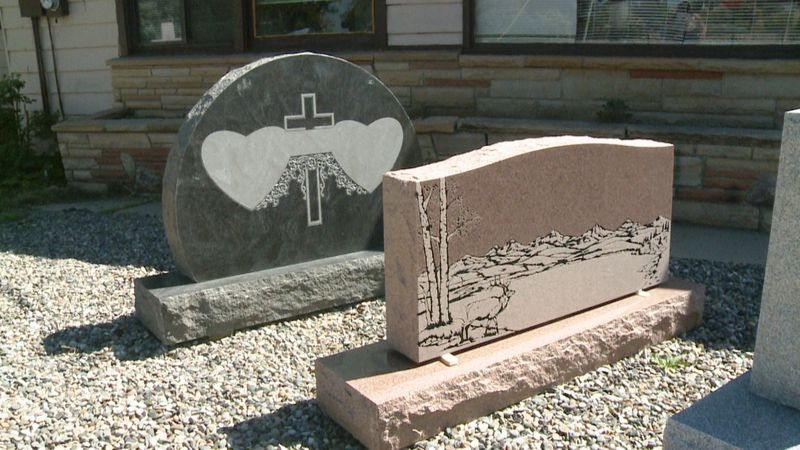 This is an example of a standing headstone, also called monuments.