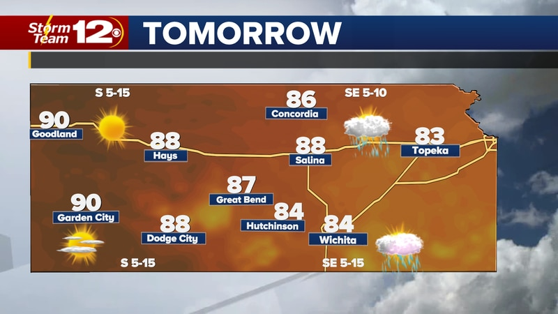 Isolated showers and storms will be possible over the next few days, then sunshine will take...
