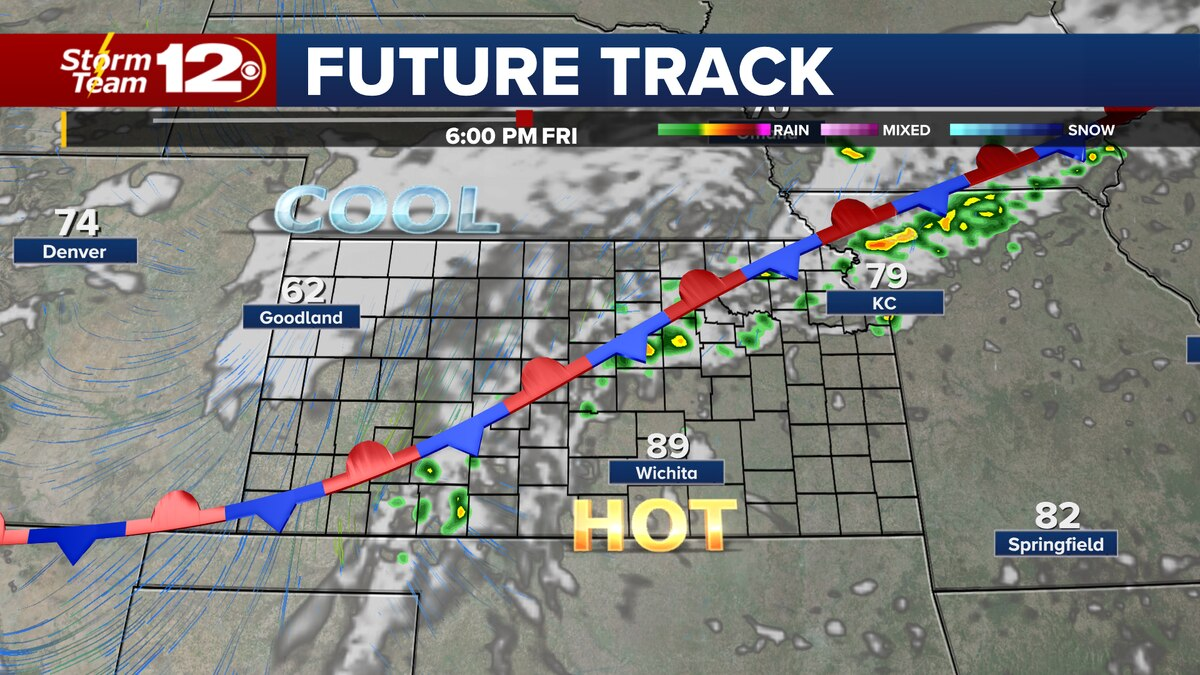 A few storms possible Friday evening