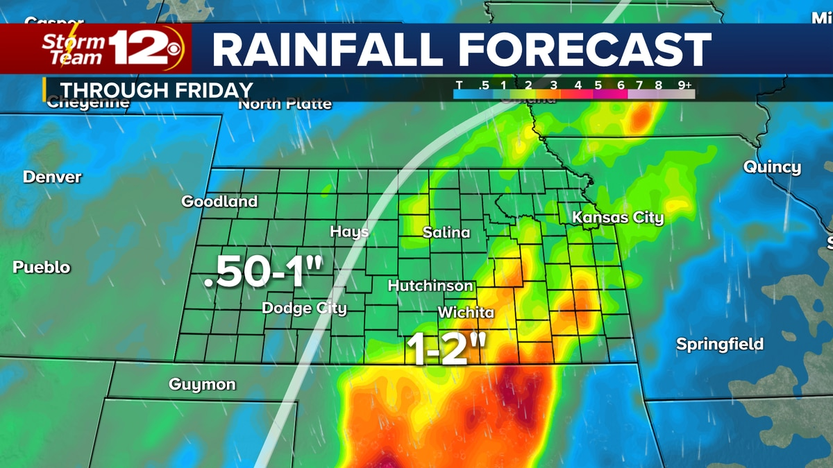 Rain forecast through Friday